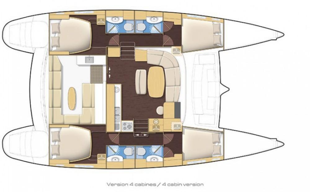 Alquiler de Catamarán, con o sin patrón Lagoon Bonifacio