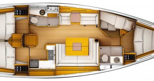 Alquiler de barcos Jeanneau Sun Odyssey 439 Q enPort du Crouesty en Samboat