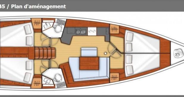 Alquiler de barcos Cagliari barato de Oceanis 45