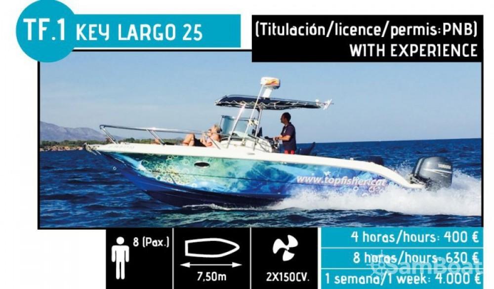 Alquiler de barcos l'Ampolla barato de Key Largo 25