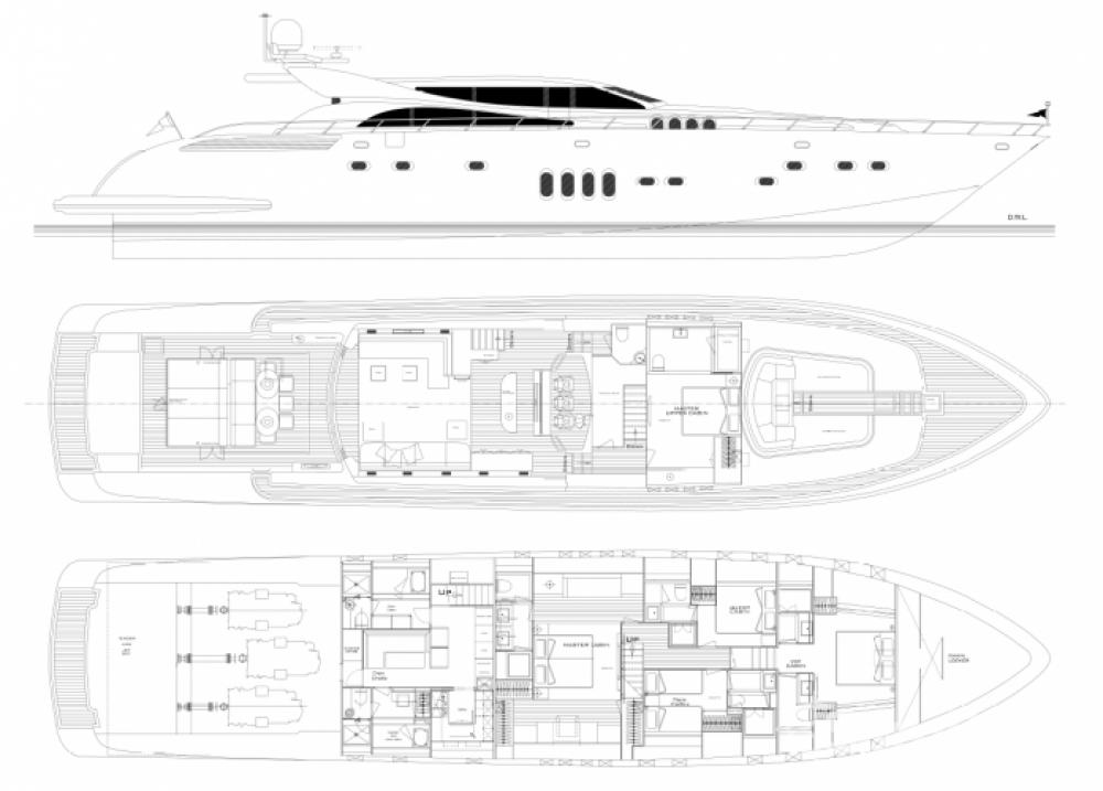 "Alquiler de barcos Cannes barato de 34.11 metres (111' 11"")"