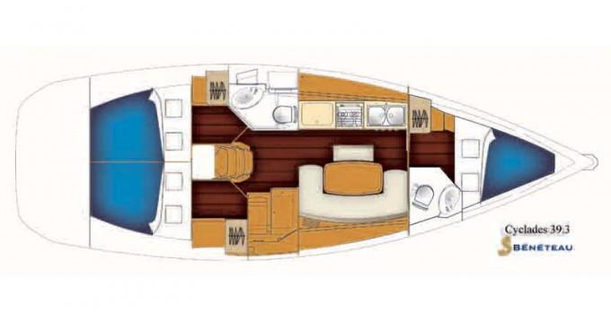 Alquiler de barcos Bénéteau Beneteau Cyclades 39.3   enRogač en Samboat