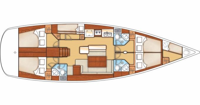 Alquiler de yate Rogač - Bénéteau Oceanis 50 Family en SamBoat