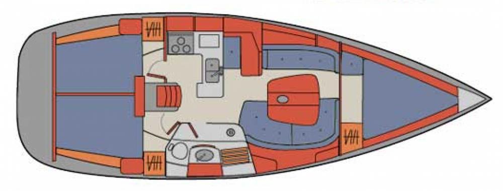 Alquiler de Bénéteau Oceanis 361 Clipper en Pula