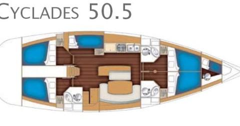 Alquiler de barcos Göteborg socken barato de Cyclades 50.5