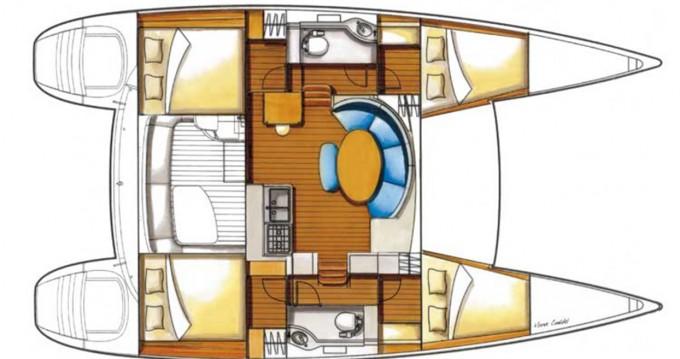Alquiler de barcos Ibiza (Ciudad) barato de Lagoon 380 S2