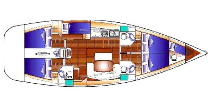 Alquiler de yate Olbia - Bénéteau Cyclades 50.5 en SamBoat