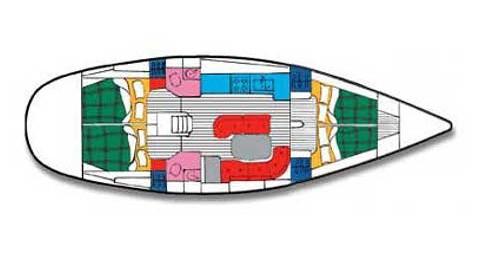 Alquiler de barcos Palma de Mallorca barato de Oceanis 461