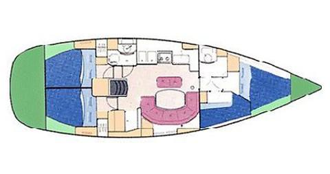 Alquiler de barcos Palma de Mallorca barato de Oceanis 411