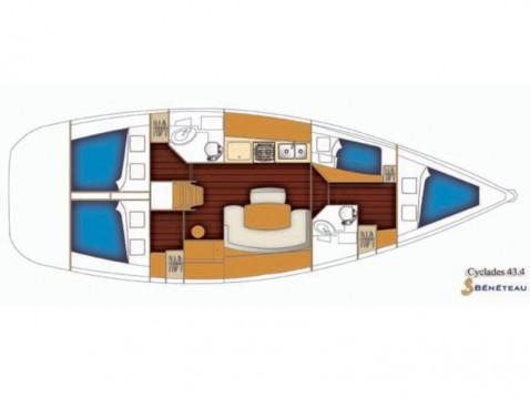 Alquiler de yate Nettuno - Bénéteau Cyclades 43.4 en SamBoat