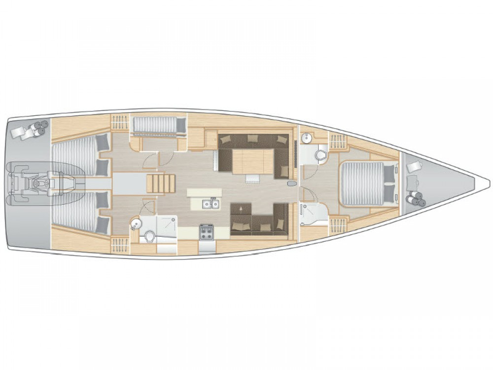 Alquiler de yate Krk - Hanse Hanse 588 en SamBoat