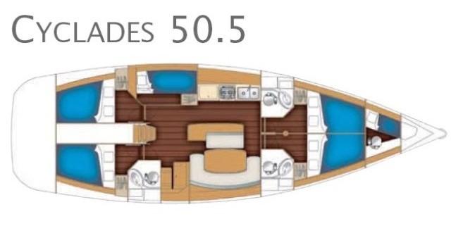 Alquiler Velero en Marina di Portorosa - Bénéteau Cyclades 50.5