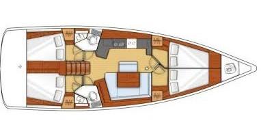 Alquiler de barcos Capo d'Orlando barato de Oceanis 45