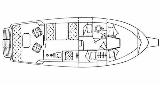 Alquiler de barcos Sas Vektor Adria 28 Luxus enBrbinj en Samboat