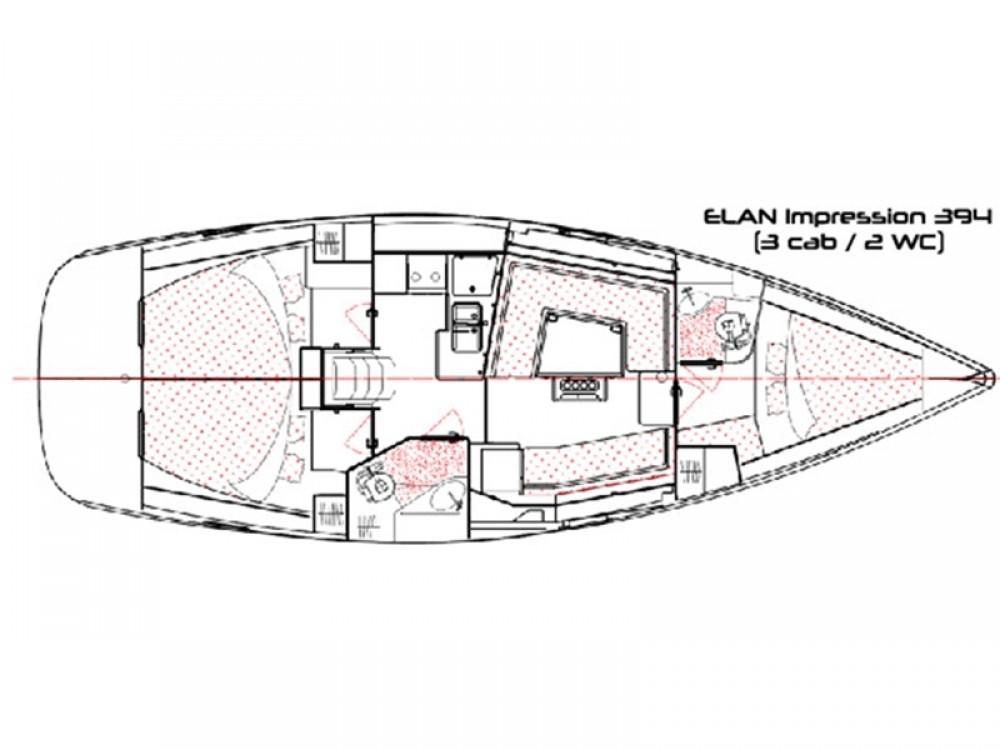 Alquiler de barcos Elan Elan 394 impression en en Samboat