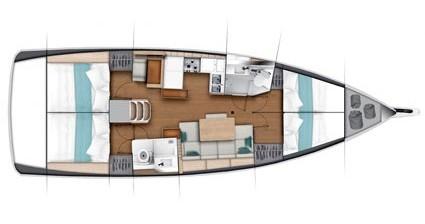 Alquiler de yate Split - Jeanneau Sun Odyssey 440 en SamBoat