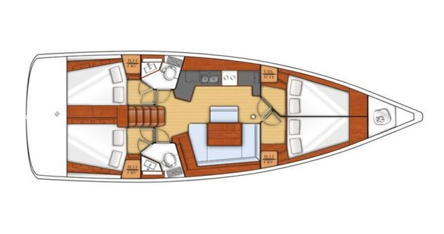 Alquiler de barcos Bénéteau Oceanis 45 enKos en Samboat
