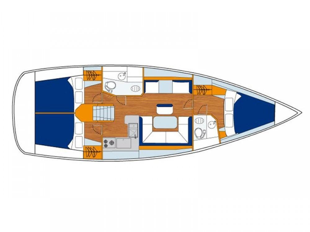 Jeanneau Sunsail 41 entre particulares y profesional ACI Marina Dubrovnik