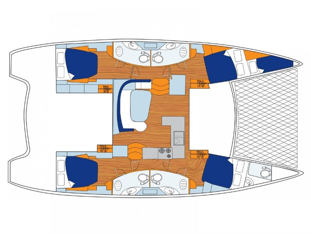 Alquiler de barcos Leopard Sunsail 454 enACI Marina Dubrovnik en Samboat