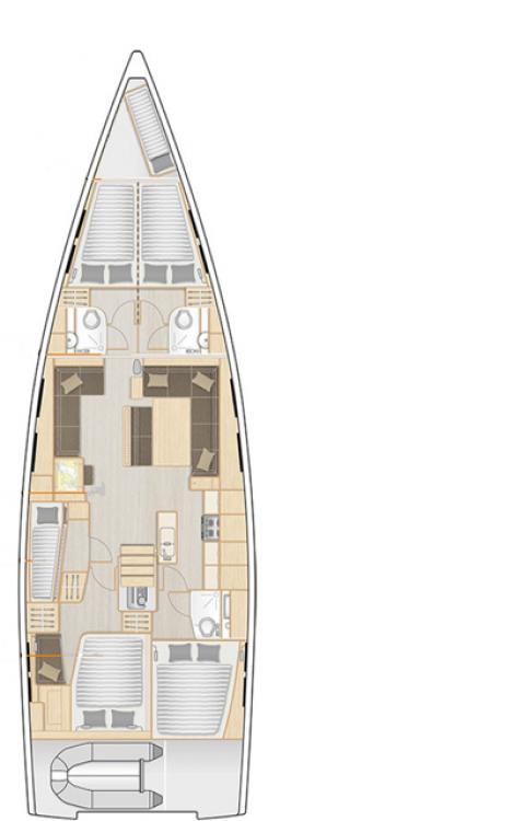 Alquiler Velero en Trogir - Hanse Hanse 548