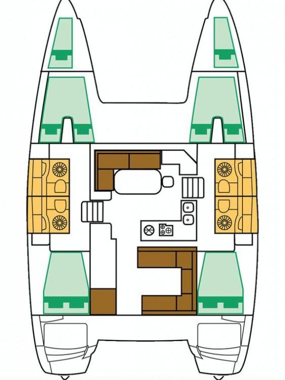 Alquiler de barcos Marina Šangulin barato de Lagoon 400 S2