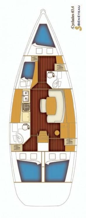 Alquiler de yate Rogač - Bénéteau Cyclades 43 en SamBoat