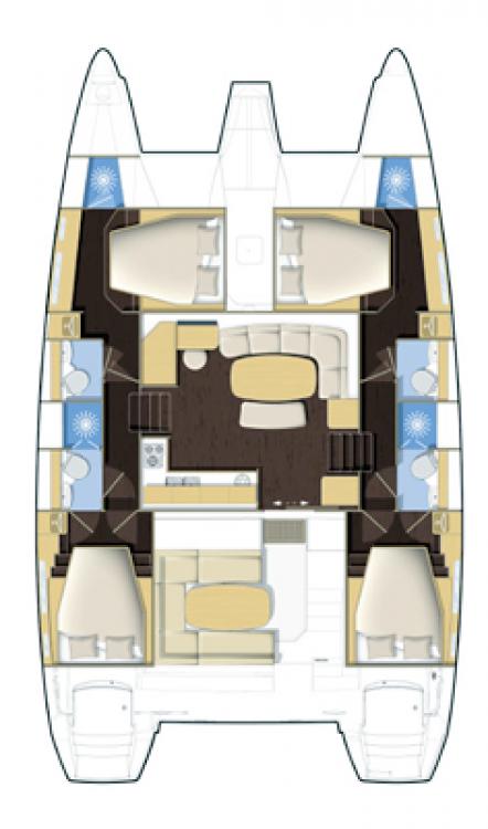 Alquiler de Catamarán, con o sin patrón Lagoon Il-Kalkara