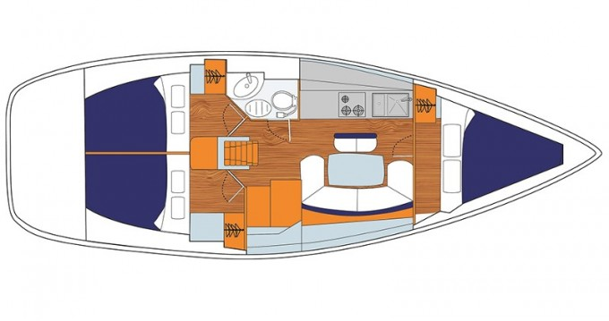 Alquiler de barcos Jeanneau Sunsail 38 enLefkada (Isla) en Samboat