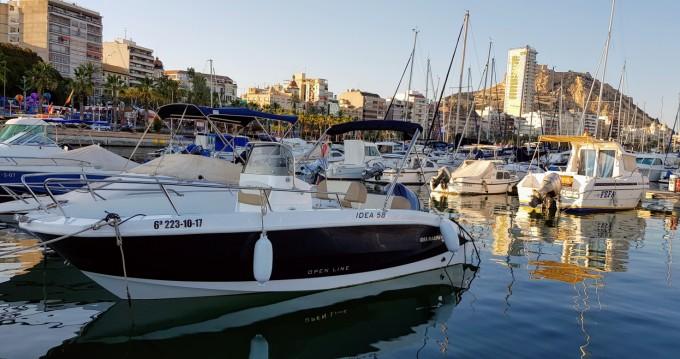 Alquiler Lancha Idea Marine con título de navegación