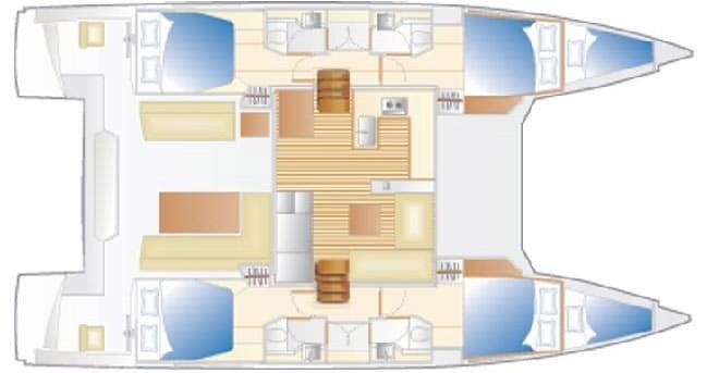 Alquiler de yate Cannigione - Nautitech Nautitech 46 Fly en SamBoat
